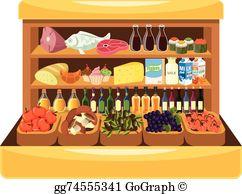 Supermarket Shelf Clip Art.