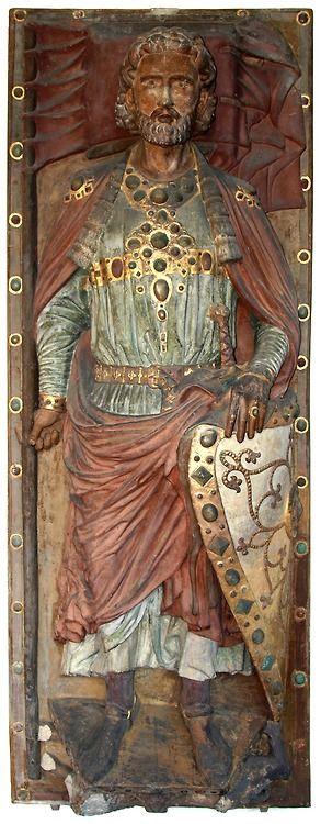 Twelfth century tomb effigy of the powerful Saxon count Wiprecht.