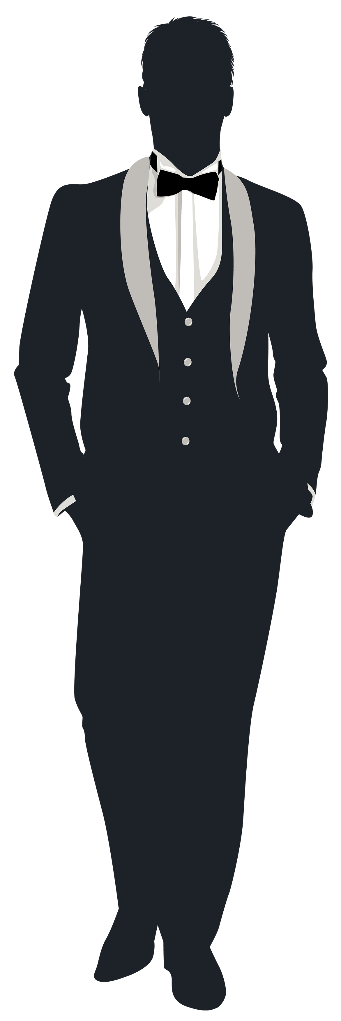 3683 Groom free clipart.