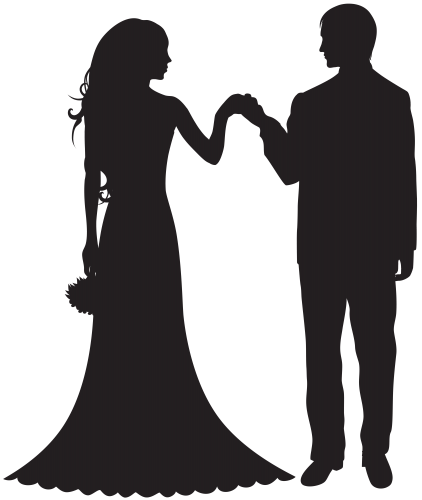 Bride and Groom PNG Clipart.