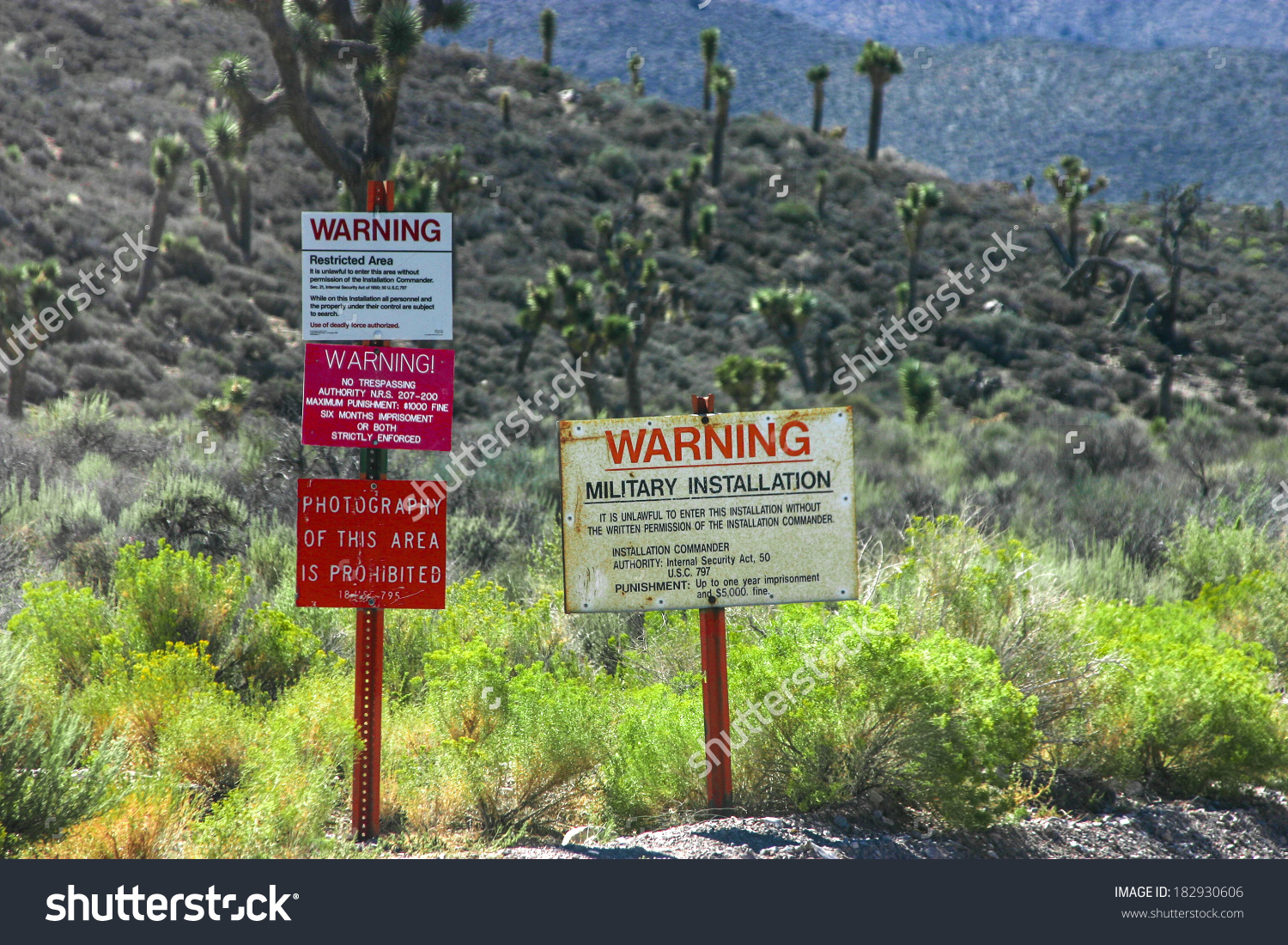 The Warning Signs At The Entrance To Groom Lake, Also Known As.