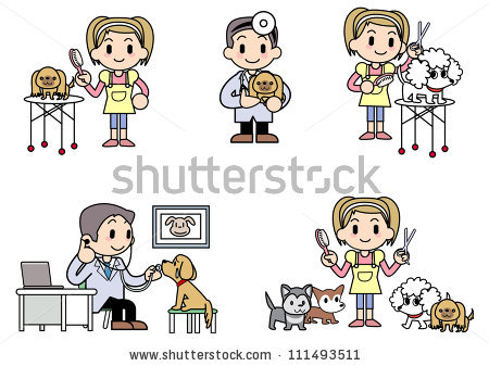 Dog Groomer Stock Illustrations, Images & Vectors.