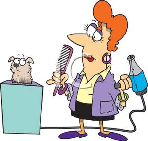 Dog grooming clip art.