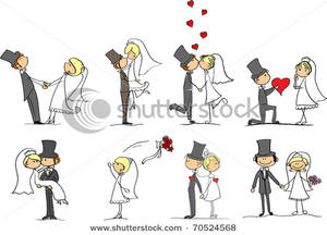 Clipart bride and groom dog.