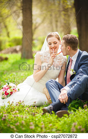 Picture of The groom, the bride, nature.