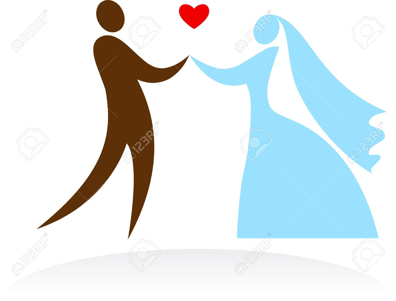 Bride And Groom Dancing At The Wedding Royalty Free Cliparts.