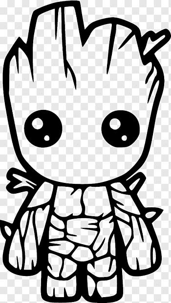 Marvel baby Groot artwork, Baby Groot Decal Bumper sticker.