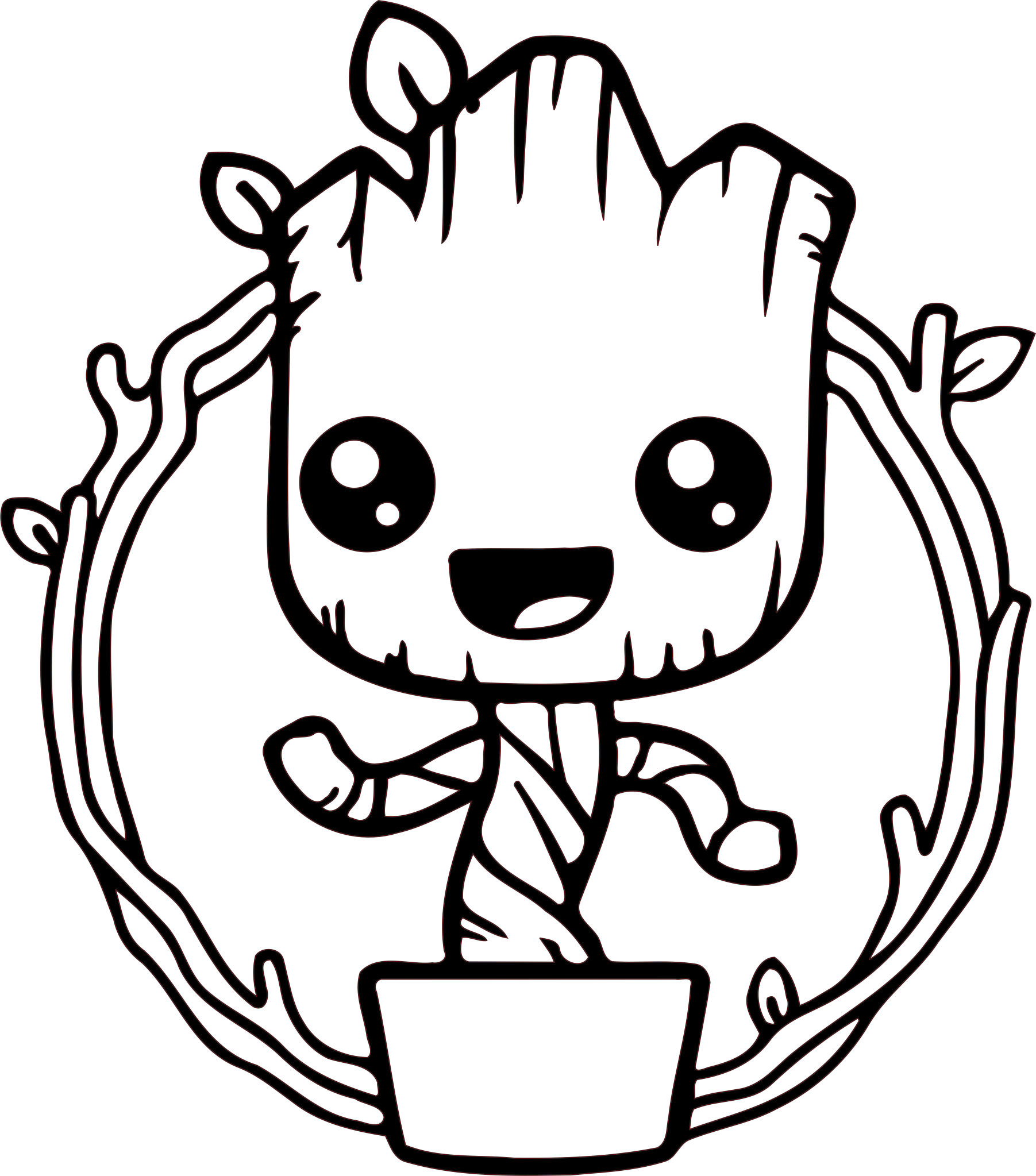 70 Groot free clipart.