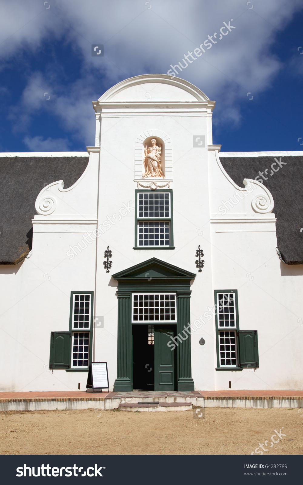 The Gable Of Groot Constantia Manor House, The Oldest And Most.