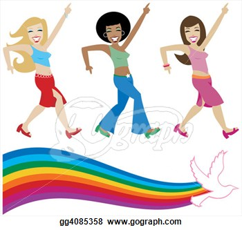 Disco girl clipart images.