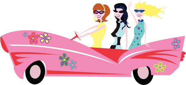 Groovy Chick Clipart.