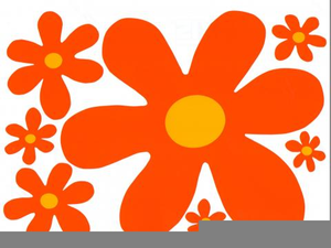 Groovy Flower Clipart.