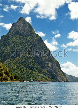 Gros Piton Stock Photos, Royalty.