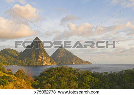Pictures of Gros Piton and Petite Piton x75062778.