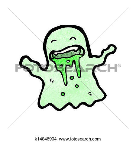 Clipart of gross slimy ghost cartoon k14846904.