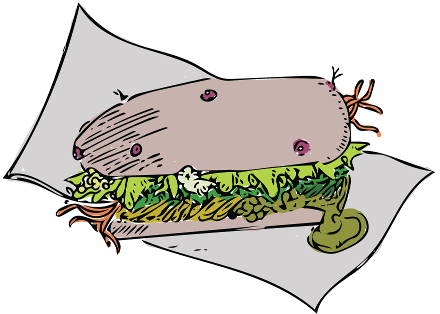 Sandwich clipart gross, Sandwich gross Transparent FREE for.