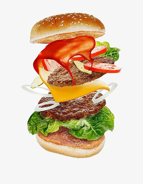 Fig Open Hamburger, Hamburger Clipart, Slice Of Bread.