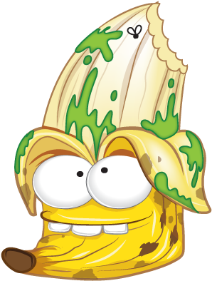 Grossery Gang Squished Banana , Transparent Cartoon.