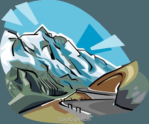 Großglockner mountain Austria Royalty Free Vector Clip Art.
