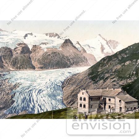 Photo of Glocknerhaus Hotel at Glacier Pasterze and Grossglockner.