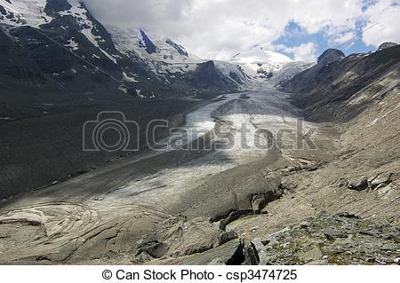 Stock Images of Glacier Grossglockner.
