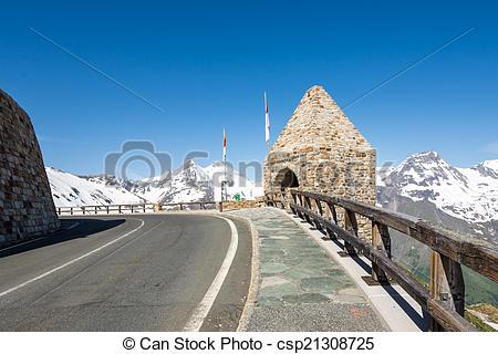 Stock Photo of Grossglockner High Alpine Road.