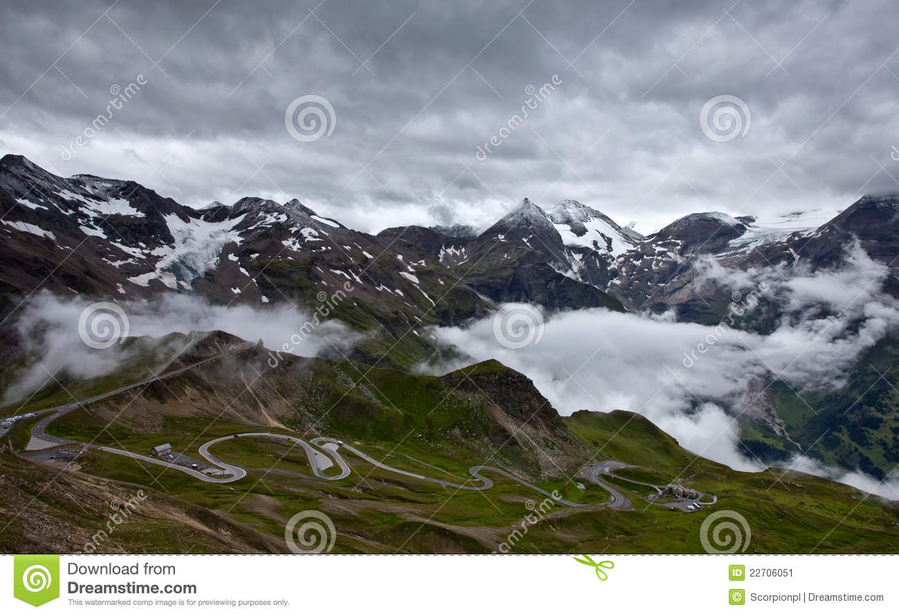 Grossglockner High Alpine Road. Stock Image.