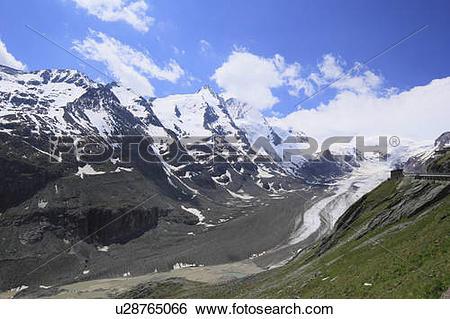 Stock Images of Grossglockner and Pasterze Gletscher u28765066.