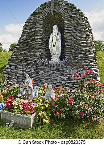 Stock Images of Lourdes Statue 1.