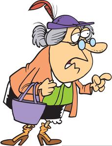 Grouchy Woman Clipart.