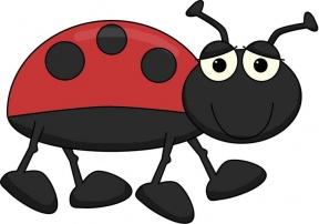 The Grouchy Ladybug Clipart.