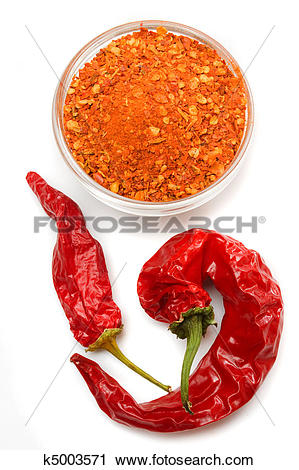 Stock Photography of Ground chili pepper k5003571.