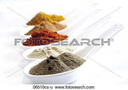 Stock Images of Coarsely ground spices 06510cs.