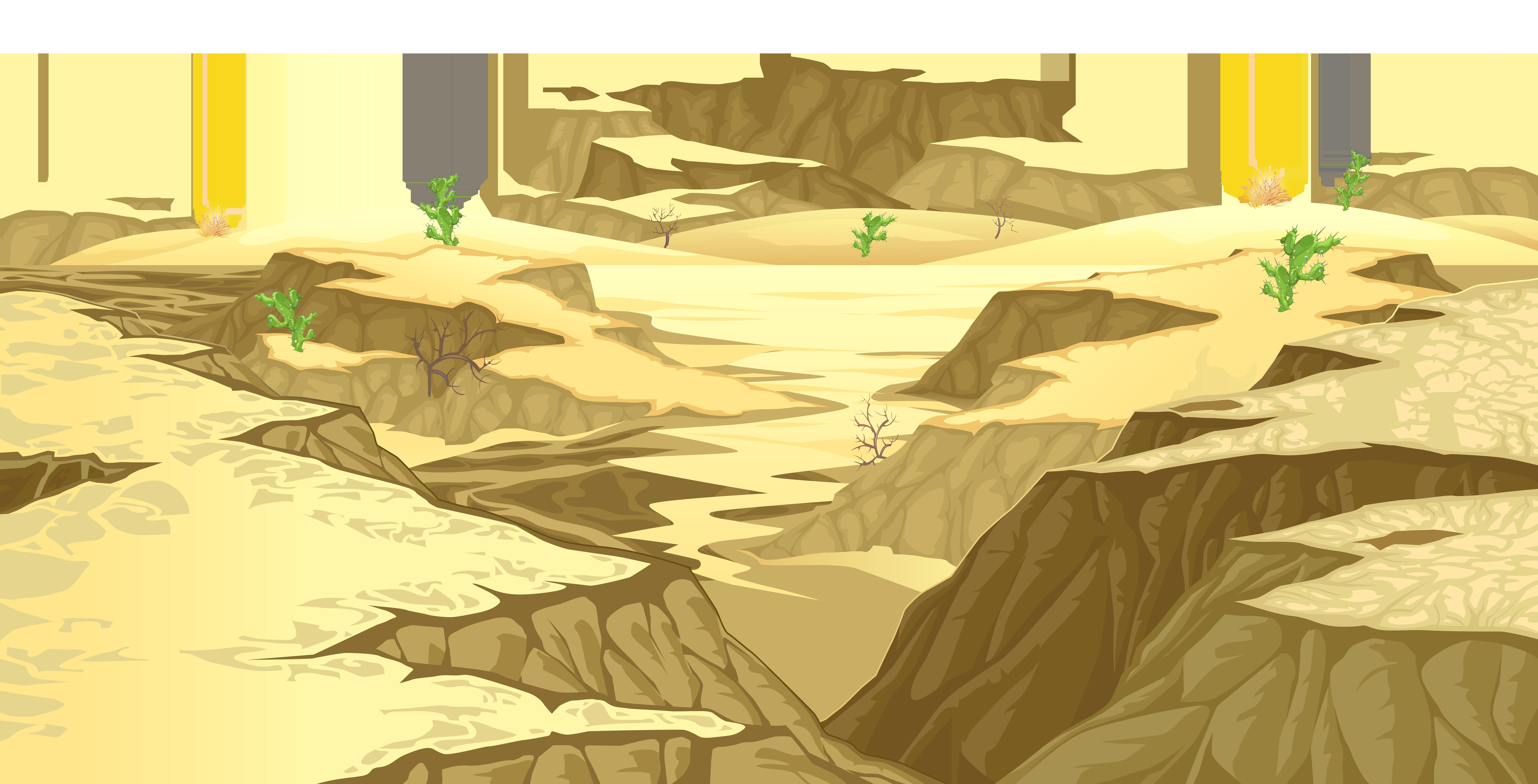 Desert Ground Cover Transparent PNG Clip Art Image.