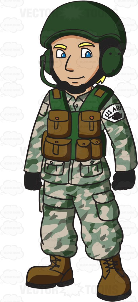 Ground forces clipart #6