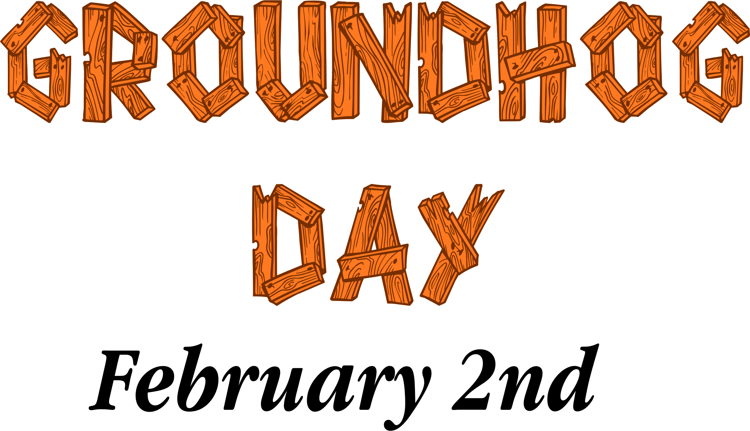 Groundhog Day Clipart Sign free image.