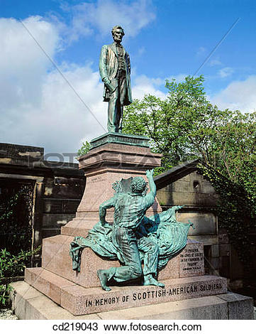 Stock Photo of Scottish American Civil War Memorial, Calton.