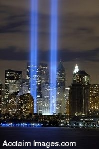 Clipart Photo of The Ground Zero Tribute In Light Memorial.