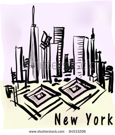 Ground Zero Memorial Stock Vectors & Vector Clip Art.