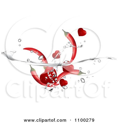 Pepper In Water Clipart.