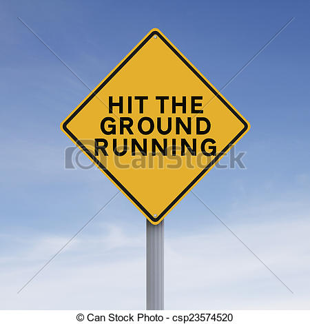 Stock Photo of Hit the Ground Running.