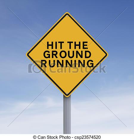 Stock Photo of Hit the Ground Running.