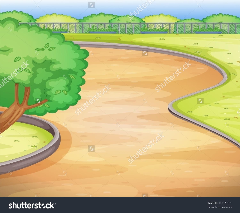 Empty Road Clip Art.
