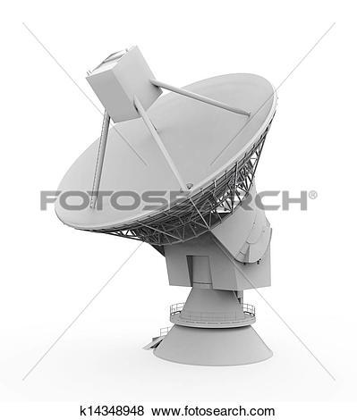 Stock Illustration of Satellite Dish Antenna k14348948.