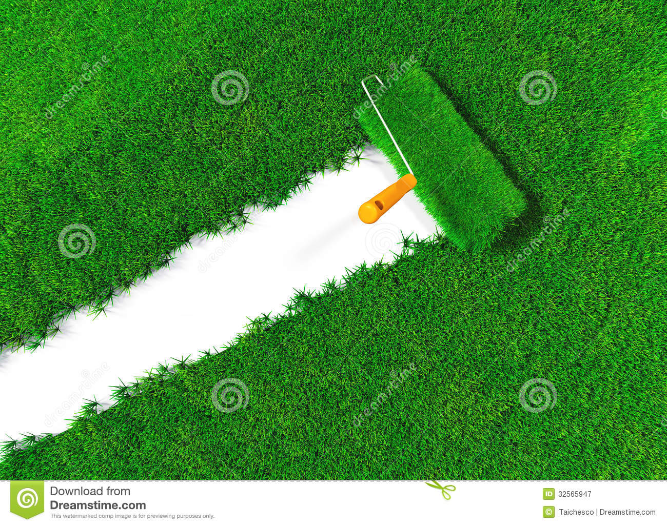 Cover The Ground With Grass Royalty Free Stock Photography.
