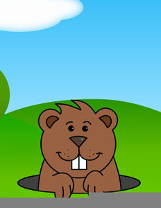 Animated Groundhog Clipart.