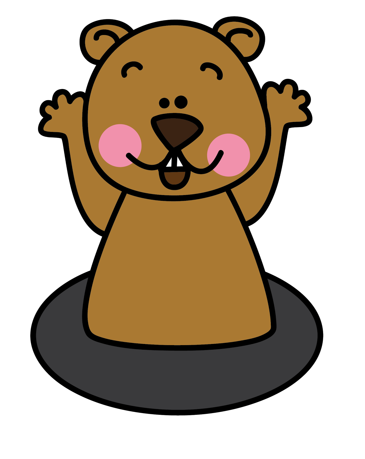 Groundhog Clipart.