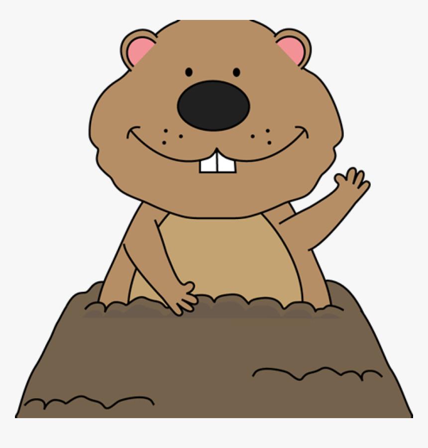 Transparent Cartoon Groundhog Clipart.