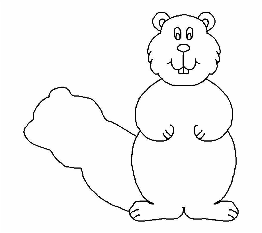 Free Groundhog Clipart Black And White, Download Free Clip.