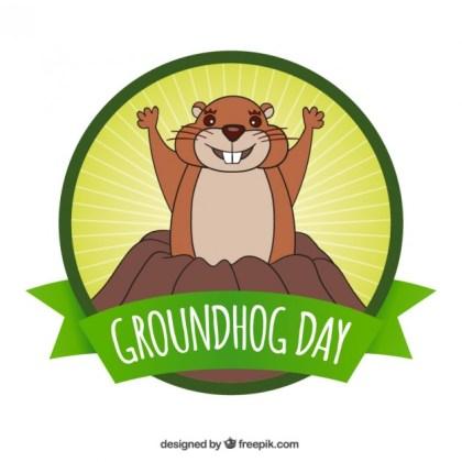 32 Groundhog Day Clipart Vectors.